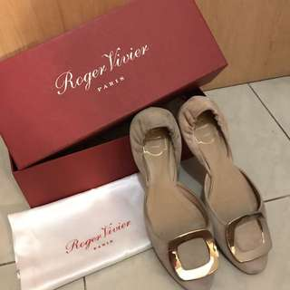 [USED二手]Roger Vivier Pale Pink Ballerinas RV 粉紅色平底鞋
