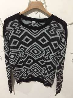 Black and White Tribal Sweatshirt