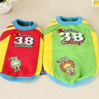 🚚 出清寵物衣服 綠色38號衛衣 狗衣服 貓衣服 保暖 現貨10號