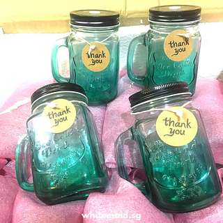 Bulk Preorder Green Tinted Mason Mug