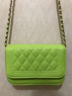 Mini Chain Green Sling Bag