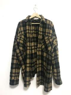 Faith Connexion Tile Plaid Oversized Flannel