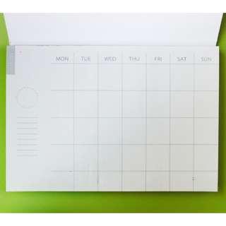 月計劃便簽本 便條紙 計劃本 Notepad 手帳
