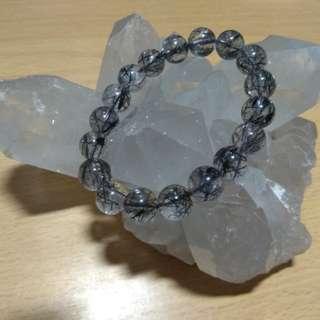 罕有11mm黑髮晶(Black Rutilated Quartz)水晶