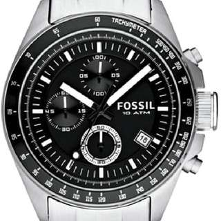 Authentic Men's Fossil Steel Watches