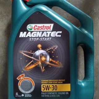 Castrol MAGNATEC STOP-START 5W-30 fully synthetic oil for sale