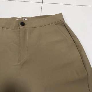 Khaki Brown Flare Pants