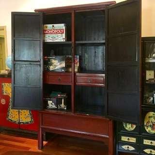 $3780 Big Asian Hardwood Cabinet Wardrobe