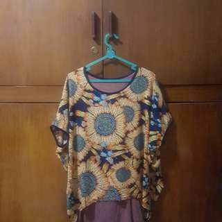 Baju kaos unyu bunga matahari
