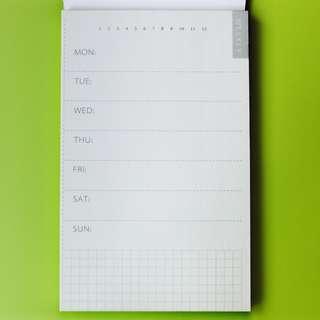 周計劃便簽本 便條紙 計劃本 Notepad 手帳