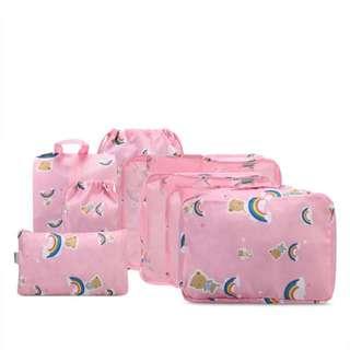 8 pieces bag travel pouch
