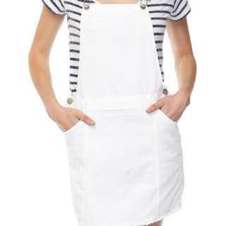 White Overall Dress / Dungaree
