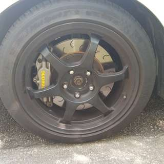 "SSR type C 17"" inch 5x114.3 with ps3 70%"