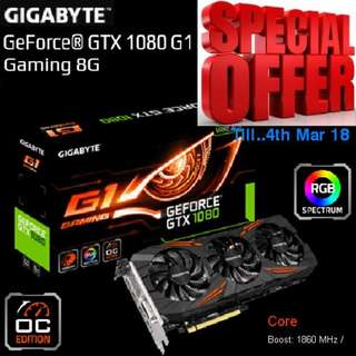 "Gigabyte GTX 1080 G1 Gaming 8G..( Special Offer till 4th March 2018 ), ""U deserve Gaming at a Cheaper rate."""