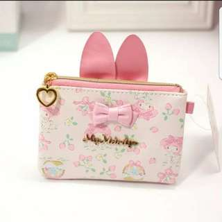 In stock sanrio my melody coin pouch and key holder