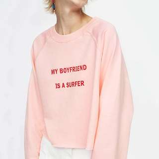 PO Surfer BF Pink Pullover