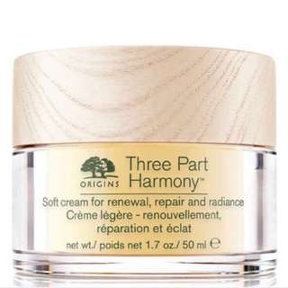 BN origins three part harmony SOFT CREAM FOR RENEWAL, REPAIR AND RADIANCE