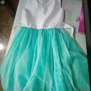White n green dress/gown