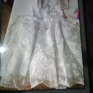 All white gown for rent