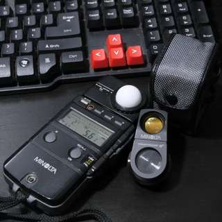 Minolta Flashmeter IV with 5° spot attachment.
