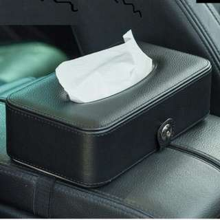 Car tissue box with elastic belt + 1 free car tissue pack