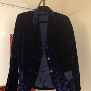 Marithe Francois Girbaud velvet blazer 意大利品牌絲絨外套