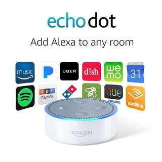 New Amazon Echo Dot 2nd Generation (White)