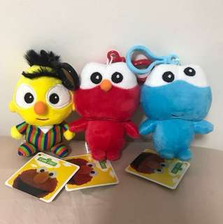 Brand New Sesame Street 123 Bert, Elmo, Cookie Monster  with tag.