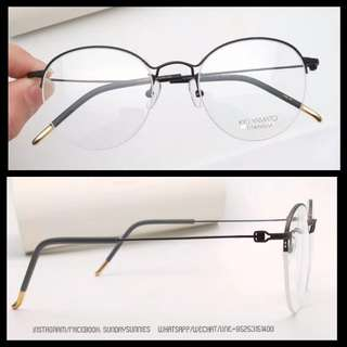 Kio Yamato Japan handmade titanium half frame glasses