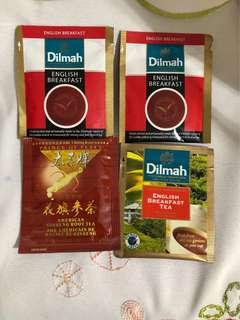 DILMAH 100%pure ceylon tea bag + Ginseng root tea