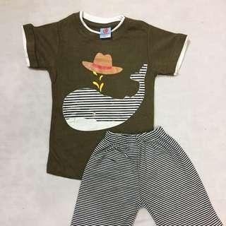 [READYSTOCK] oneset tshirt and shortpant