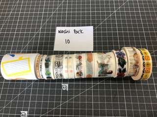 Washi Tape Pack 10