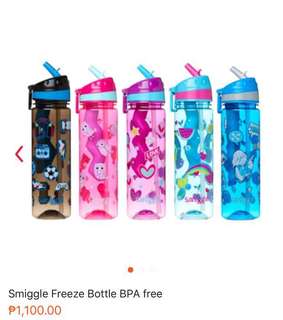 Smiggle Drink Up Freeze Bottle BPA free