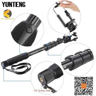 YUNTENG YT-1188 Selfie Stick Wired Cable Pole selfie Monopod Self stick 1/4 Screw for DSLR Camera with Phone Clip for Smartphone