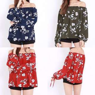 PO RIBBON FLORAL SLEEVE OFFSIE