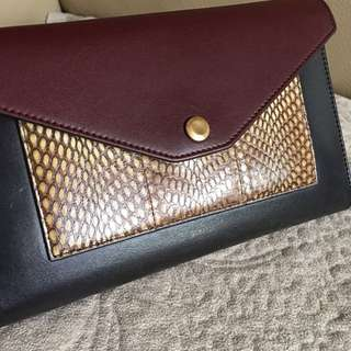 CELINE large pocket flap on chain calfskin