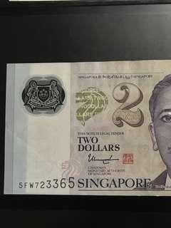 $2 Ink Printing Error