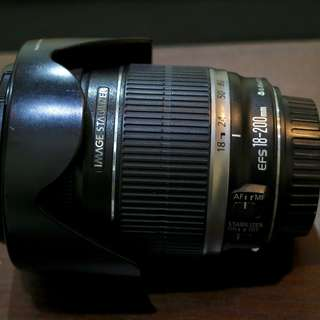 Canon 18-200 IS with Canon Hood