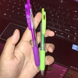 Pulpen Zebra Sarasa 0,5 Purple & Light Green