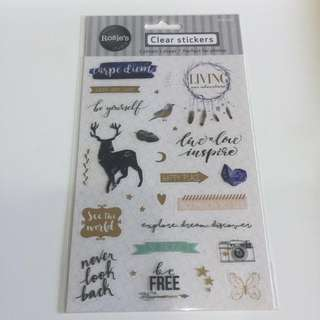 Clear Stickers [free NM]