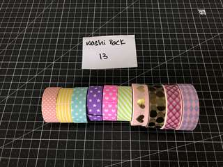 Washi Tape Pack 13
