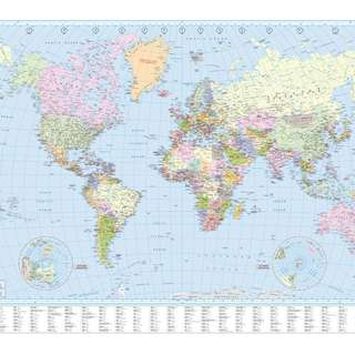 World Map large with index