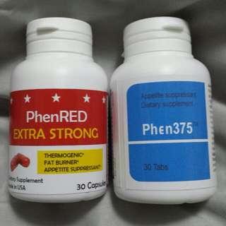 FAMOUS PHEN375 +  REDUCE INTAKE + BURNS + SLIMMING LOSE WEIGHT DIET + EXTRA STRONG FAT BURNER PHENRED SUPER BUNDLE SET