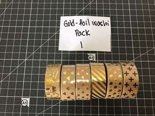 Gold foil washi tapes Pack 1