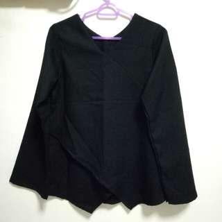 BN Black Asymmetrical Overlap Top