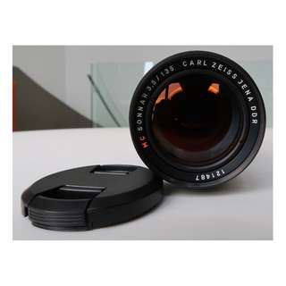 Carl Zeiss Jena DDR 135mm f3.5 Sonnar MC lens (M42 mount)