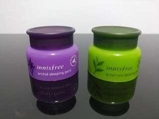 BN Innisfree Orchid / Green Tea Sleeping Pack 20ml