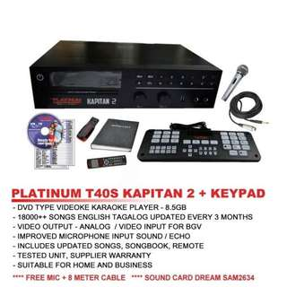 The Platinum Karaoke Kapitan 2 t-40s