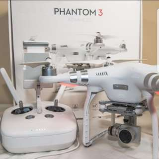 DJI Phantom 3 Advanced with extra batteries and HDMI upgraded