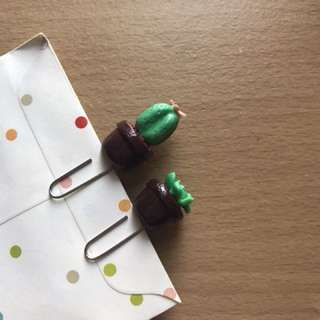 Cactus & plant paperclip for journaling